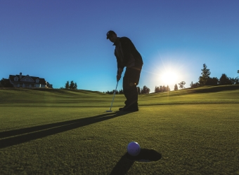Golfer silhouette at Grand Traverse Resort and Spa